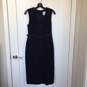 LK Bennett Navy Tuxedo Dress US 8